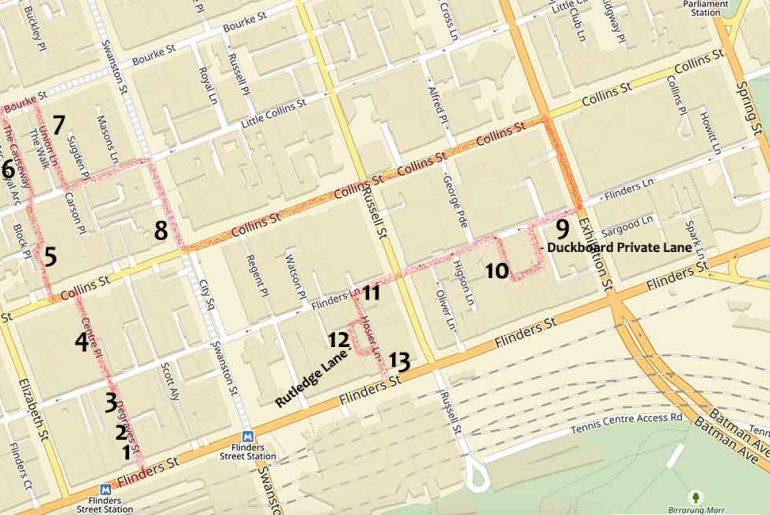 La mappa della Street Art di Melbourne - fatta apposta per te